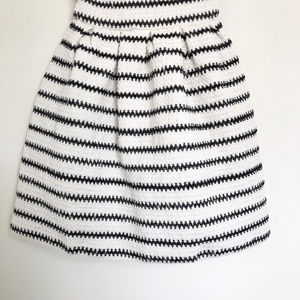 bebe Dresses - 2B Bebe White Strapless Dress w Black Stripes